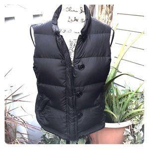 J. Crew black down puffy puffer vest size M